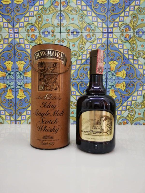 Bowmore Aged 12 Years Scotch Whisky Islay Single Malt- vol 43% cl 75 Bott. 1980s