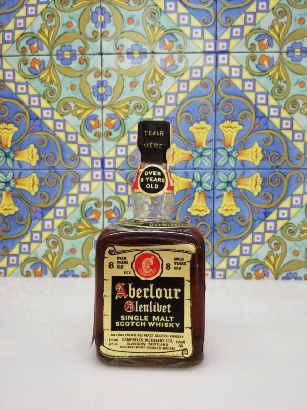 Aberlour 8 Y.O. Glenlivet Single Malt Scotch Whisky- vol 50 cl 75 Bott. 1960s