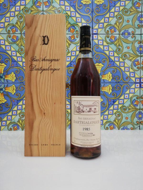 Bas Armagnac 1985 with wooden box- Dartigalongue vol 40% cl 70