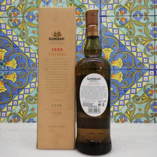 Whisky Glen Grant 1992 Cellar Reserve vol 46% cl 70