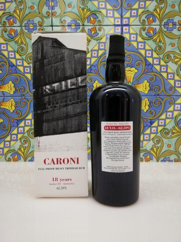 Rum Caroni 18 years Full Proof Heavy Trinidad Rum – vol 62,59% cl 70