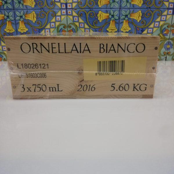 """""""Ornellaia Bianco"""" 2016– Tenuta Dell' Ornellaia 3 bot. cl 75"""
