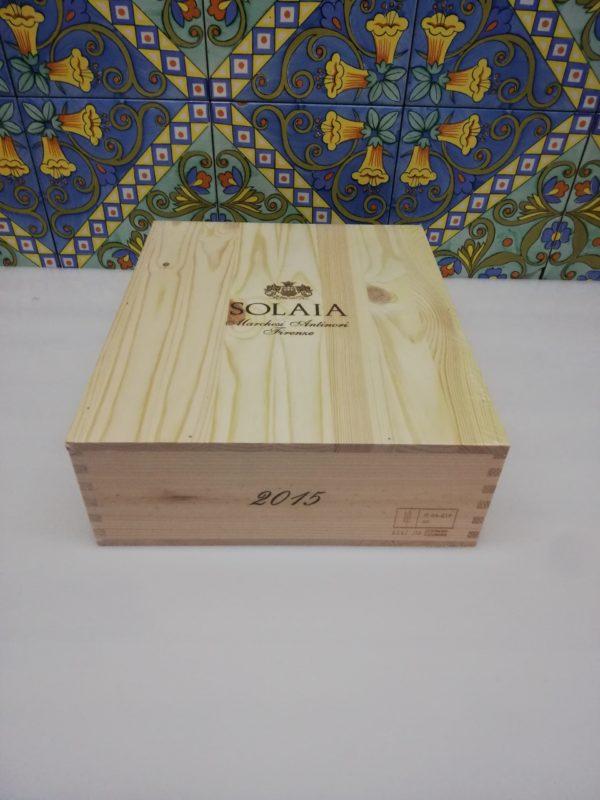 Antinori – Solaia 2015 – Toscana IGT Cassa in legno sigillata 3 bottiglie 750 ml