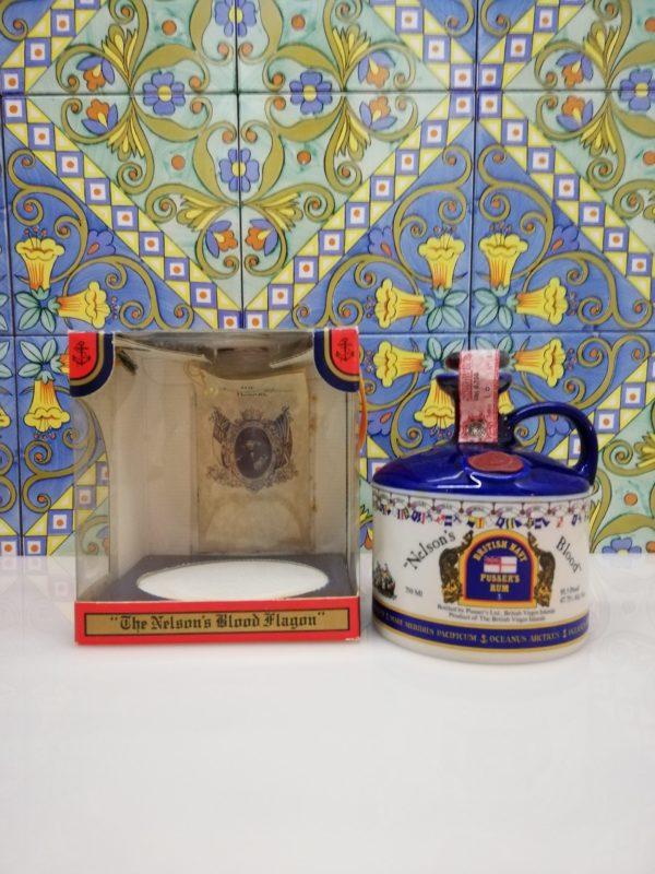 "Rum Pusser's  Nelson's Blood Vol.47,75% cl.75 ""decanter ceramic"""
