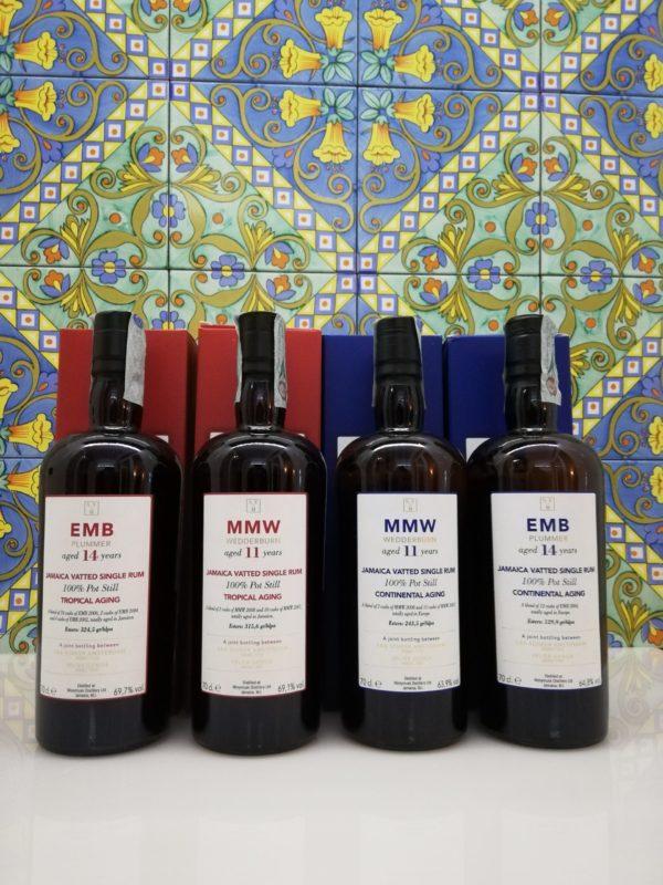 Rum Rhum Serie completa Monymusk -Tropical and Continental- Velier -Scheer