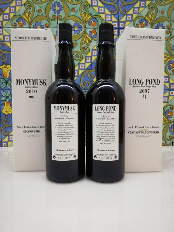 Rum Jamaica Velier -Monymusk 2010 MBS & Long Pond 2007 TECA