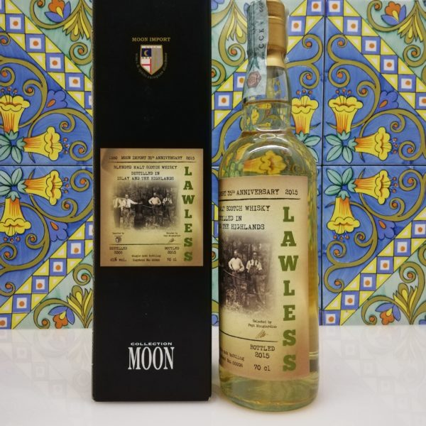 "Whisky Moon Import 35° Anniversary ""Lawless"" Distilled 2006 -cl 70 vol 45%"