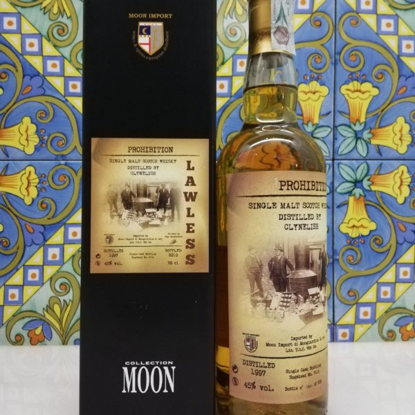 """Whisky Moon Import 35° Anniversary Clynelish """"Lawless"""" Distilled 1997 cl 70 vol 45%"""