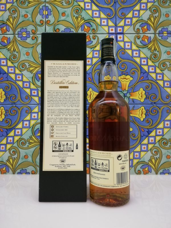 """Whisky Single Malt """"Cragganmore"""" Limited Edition 2018 vol 40% cl 70"""
