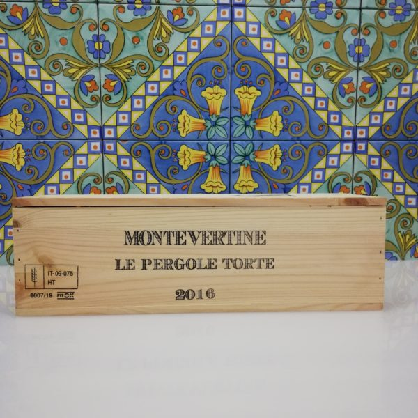 Vino Le Pergole Torte 2016 Montevertine, Magnum 1,5 Lt in wood box