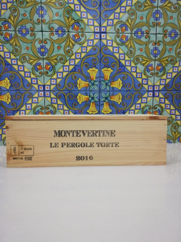 Vino Le Pergole Torte 2016 Montevertine, Magnum 1,5 Lt in wood box