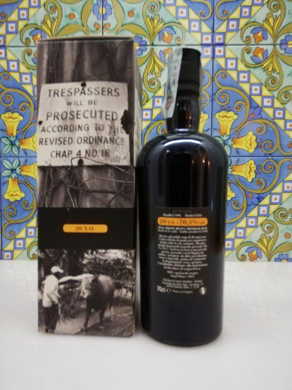 "Rum Caroni 1996  full proof 20 Y.o.""Trespassers"" Vol.70,1% cl.70 Velier"