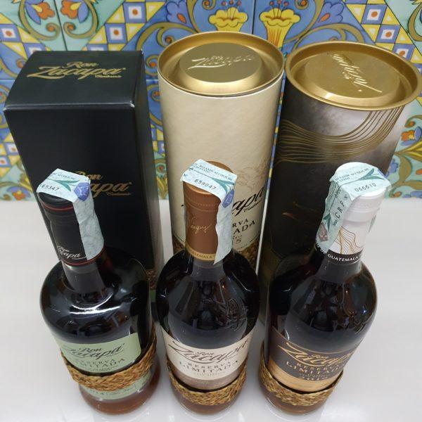 Rum Serie Zacapa Reserve Limitada 2014-2015-2019 cl 70 vol 45 %