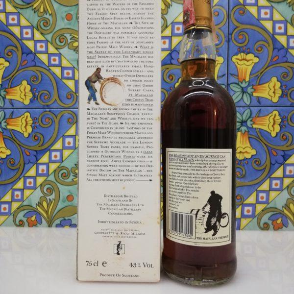 Whisky The Macallan 18 y.o. Distilled 1970 Giovinetti e Figli vol 43% cl 75