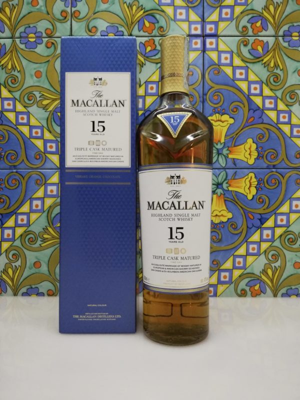Whisky Macallan 15 y.o. Triple Cask Matured Fine Oak cl 70 vol 43%