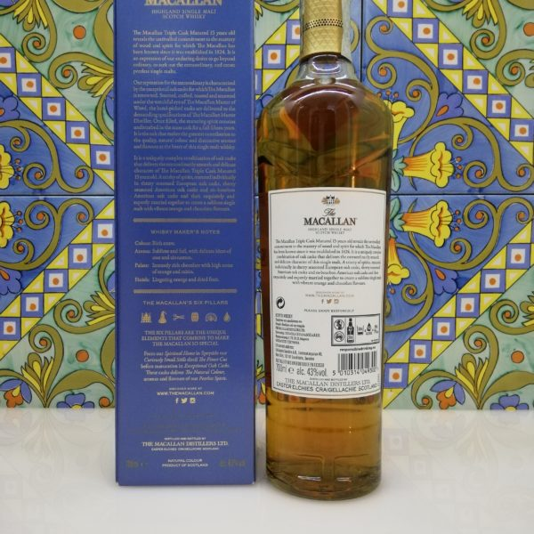Whisky Macallan 15 y.o. Triple Cask Matured Fine Oak cl 70 vol 43%