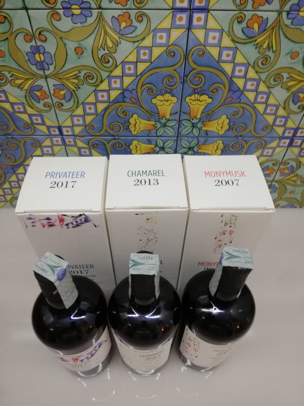 Rum Serie Villa Paradisetto 2nd release Monymusk – Privateer – Chamarel cl 70