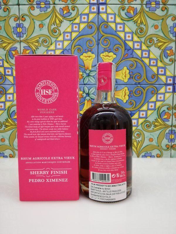 Rum Extra Vieux 2005 Sherry Finish Pedro Ximenez Habitation Saint-Etienne cl 50 vol 46%