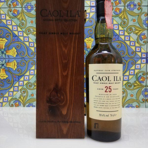Whisky Caol Ila 25yo 1978 70cl vol59.4% with wood box