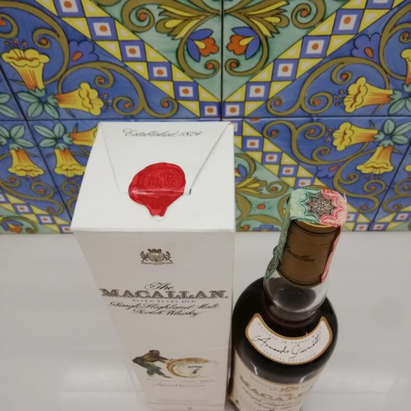 Whisky The Macallan 7 Years Old Giovinetti e Figli Bottled 2002 – cl 70 vol 40 %
