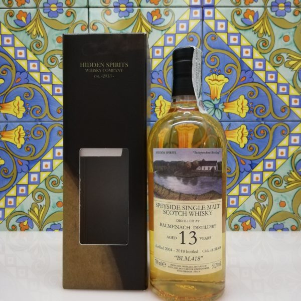 Whisky Balmenach 13 y.o. 2004-2018 Hidden Spirits vol 51,2% cl 70