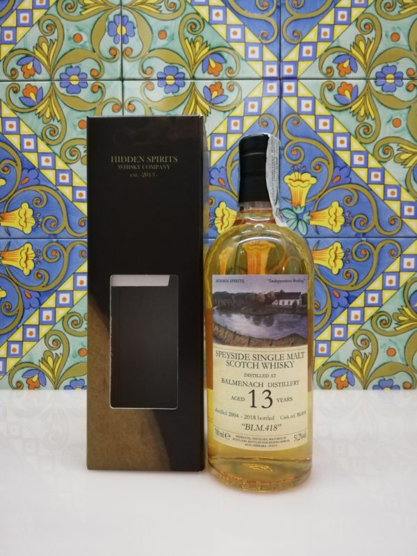 Whisky Balmenach 13 y.o. 2004-2018 Hidden Spirits vol 51,2% cl 70