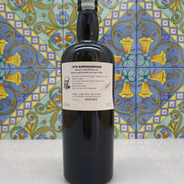 Whisky Samaroli Bunnahabhain 1978 Single Cask Coilltean vol 45% cl 70