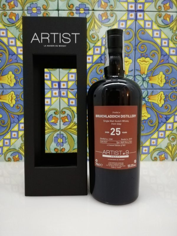 Whisky Bruichladdich 1990 Artist#9 -25 years old – vol 55% cl 70