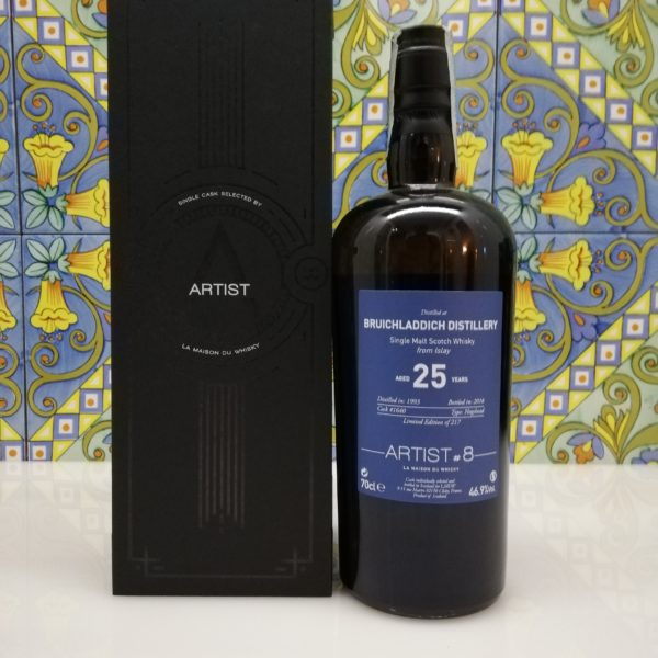 Whisky Bruichladdich 1993  Artist#8 -25 years old – vol  46.9% cl 70