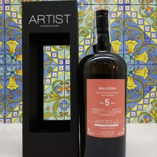 Whisky Ballechin 2010 Artist #9 -5 years old – vol  57,9° cl 70