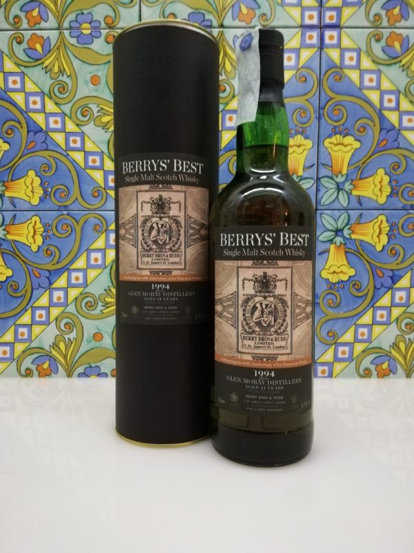 """Whisky """"Berry's Best"""" 1994 21 years old – Glen Moray Berry Bros. & Rudd cl 70 vol 56.3%"""