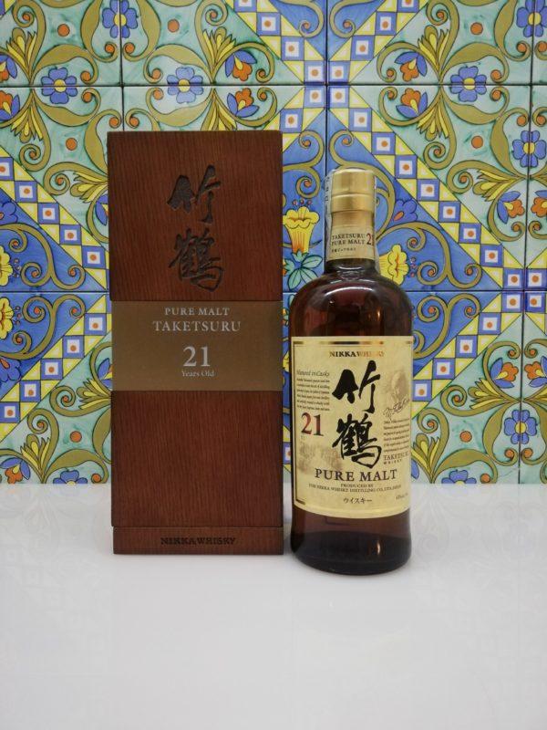 Whisky Taketsuru 21 Y.o. Nikka  Pure Malt Vol.43% cl.70 wood box