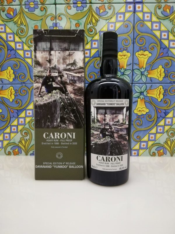 """Rum Caroni Employees 4th Release Dyanand """"Yunko"""" Balloon cl 70 vol 68,3%"""