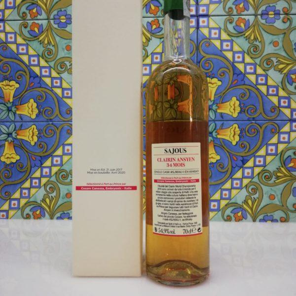 Rum Clairin Ansyen Sajous 34 Mois Cesare Canessa ex-Whisky cl 70 vol 54.9%