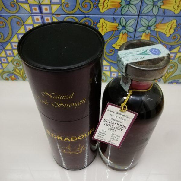 Whisky Edradour 1993 Single Cask Natural Cask Strength vol 58.4% cl 70