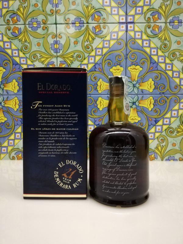 Rum Rhum El Dorado 21 Y.o.  Vol.43% cl.70 Old Version