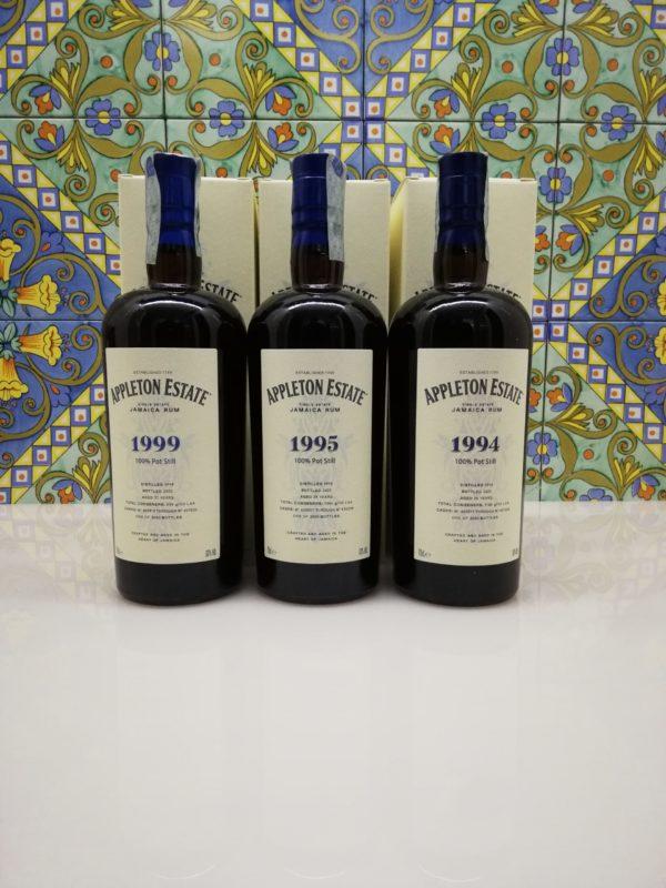 Rum Appleton Estate Hearts Collection 1994 – 1995- 1999 Vol.63% Cl70