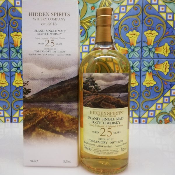 Whisky Tobermory 25y.o. Single Malt distilled 1995 Hidden Spirits cl70 vol 50.2%
