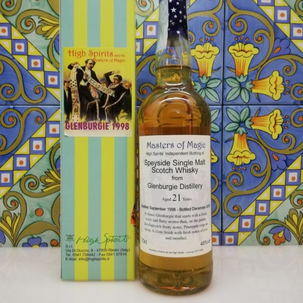 Whisky Glenburgie 1998 Masters of Magic 21 y.o. High Spirits vol 46% cl 70
