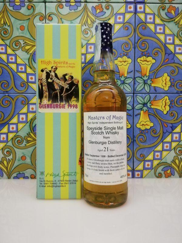 Whisky Glenburgie 1998 Masters of Magic 21 y.o. High Spirits vol 46% cl 70