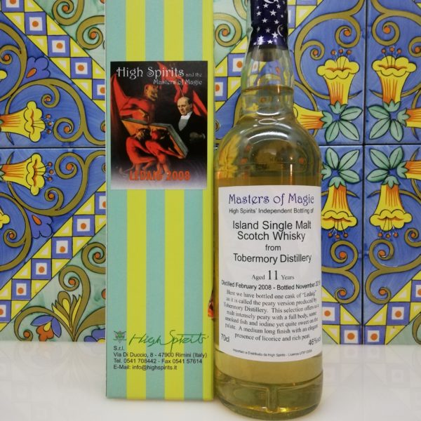 Whisky Ledaig 2008 Masters of Magic 11 y.o. High Spirits vol 46% cl 70