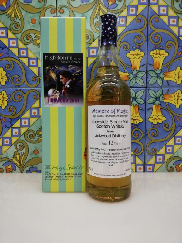 Whisky Linkwood 2007 Masters of Magic 12 y.o. High Spirits vol 46% cl 70