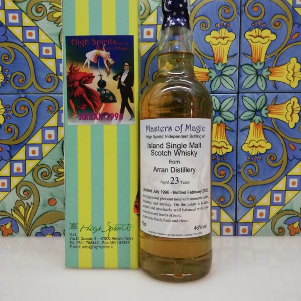 Whisky Arran 1996 Masters of Magic 23 y.o. High Spirits vol 46% cl 70