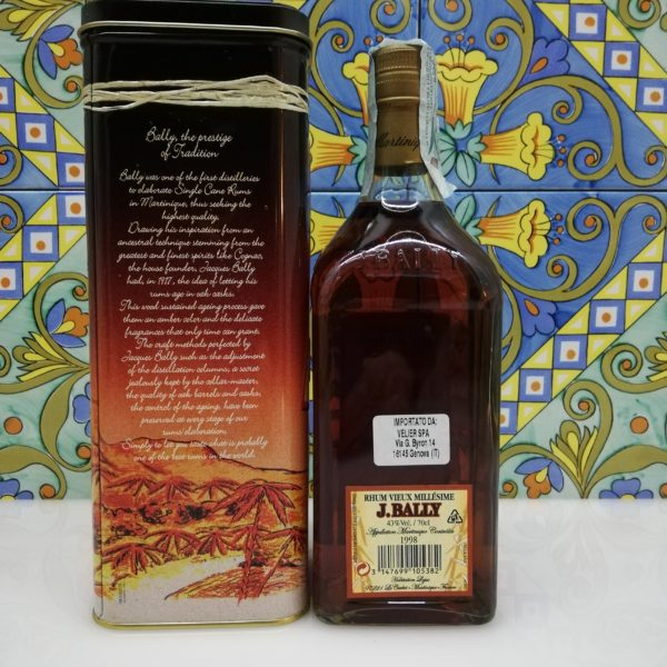 Rum Rhum J.Bally 1998  Vol.43%  cl 70 Agricole Martinique