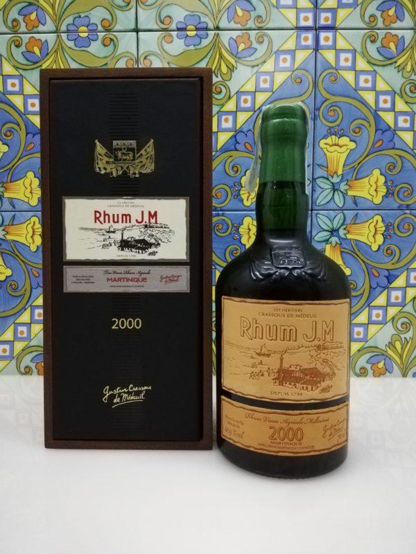 Rum J.M. Agricole Martinique 2000 15 y.o.  Vol.41,9% cl.70 wood box