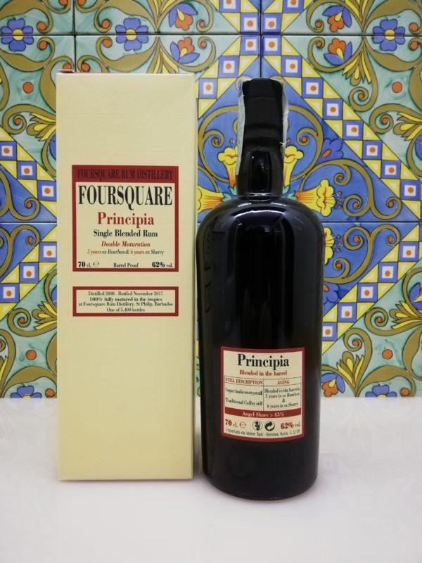 Rum Foursquare Principia Velier Vol.62% Cl. 70