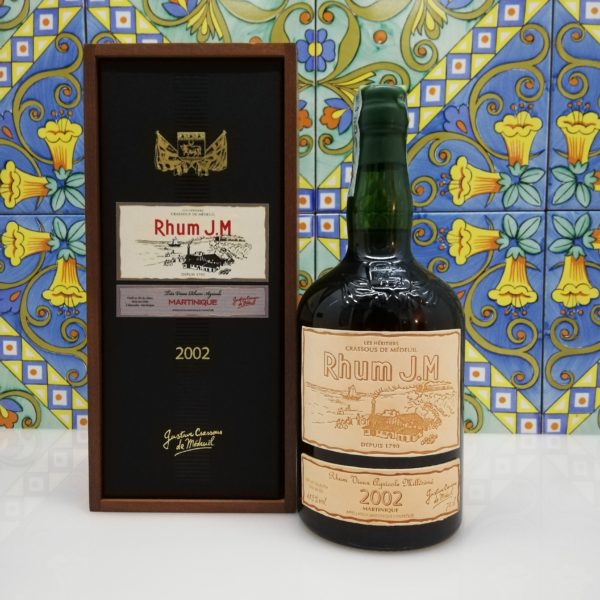 Rum J.M. Agricole Martinique 2002 15 y.o.  Vol.41,5% cl.70 wood box