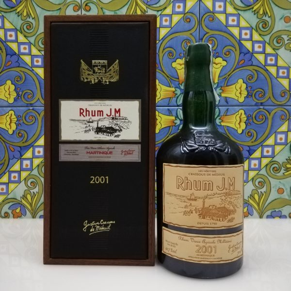 Rum J.M. Agricole Martinique 2001 15 y.o.  Vol.41,7% cl.70 wood box