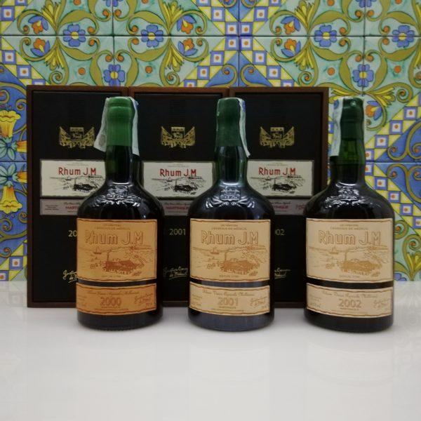 Rum J.M. Agricole Martinique 2000 – J.M. Agricole Martinique 2001 -J.M. Agricole Martinique 2002 -3x 70 cl