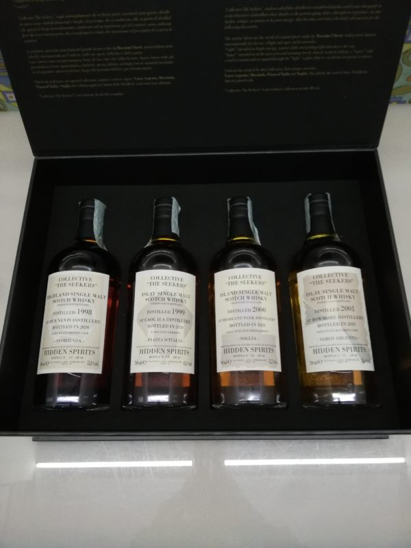 """Whisky Collective """" The Seekers"""" 2020 Hidden Spirits 4 x 70 cl"""